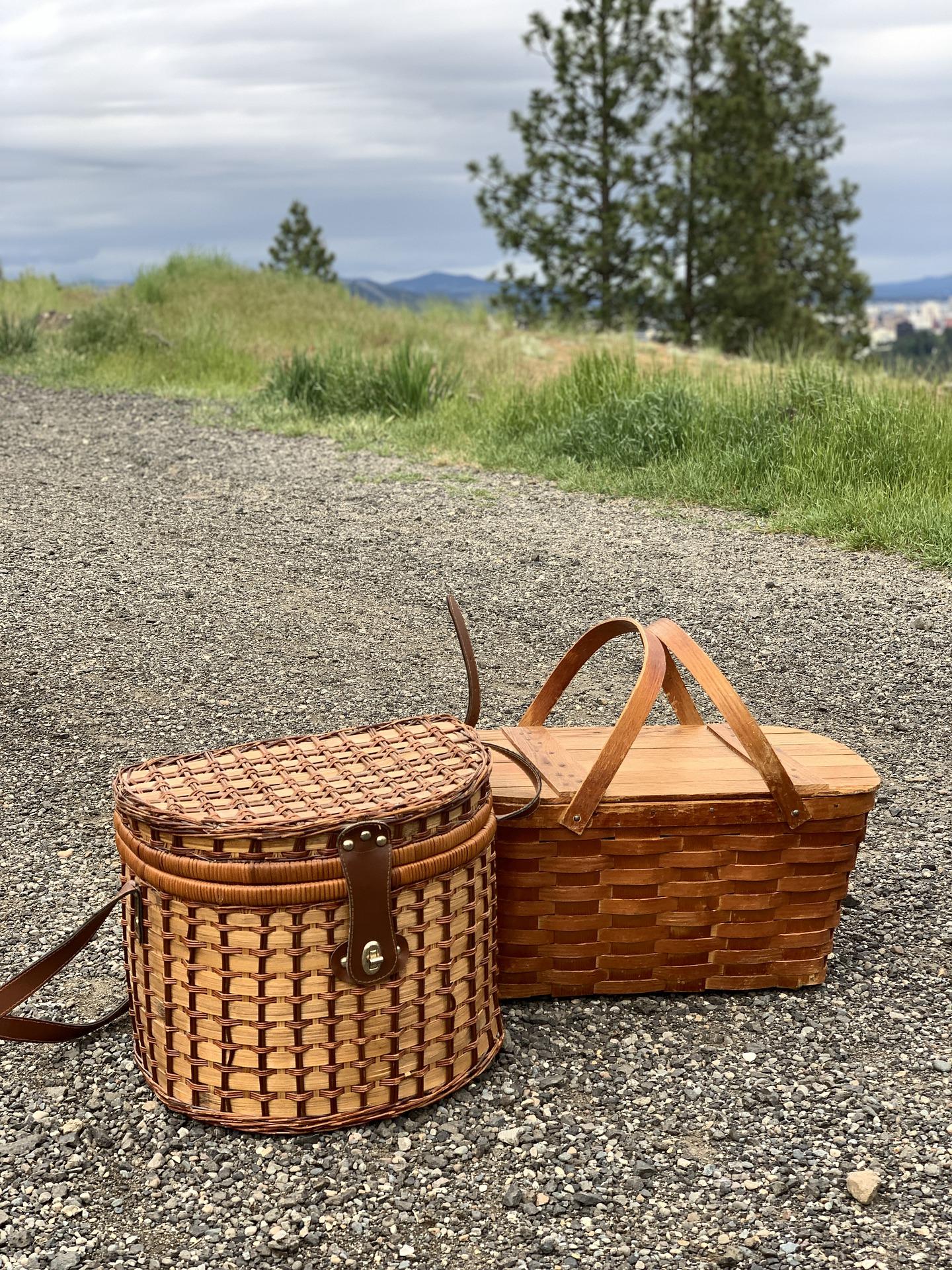 Goed gevulde picknickmand mee met je echopper uitje